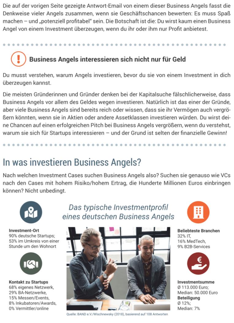 Startup Finanzierung - Inhalte - Business Angels