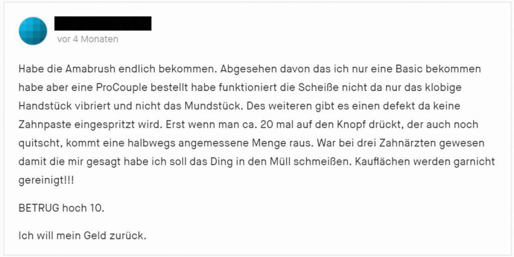 Kritischer Kommentar zu Amabrush auf Kickstarter