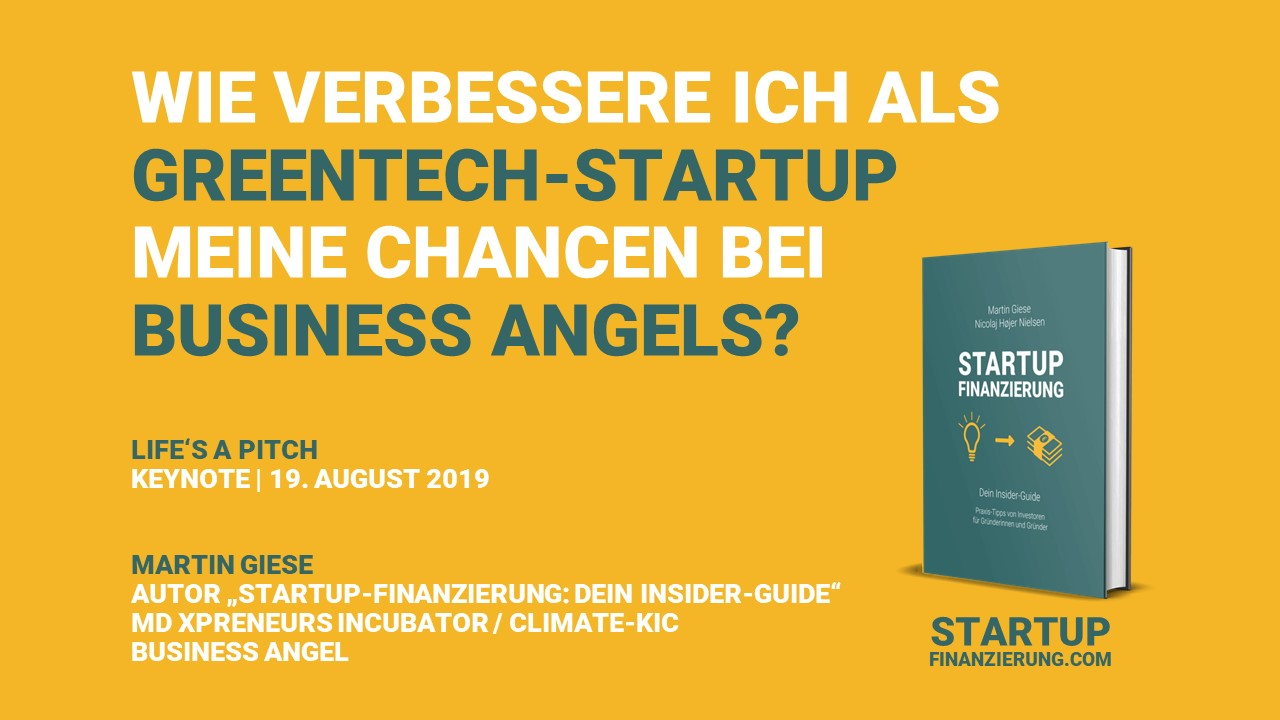 Wie verbessere ich als Greentech-Startup meine Chancen bei Business Angels?