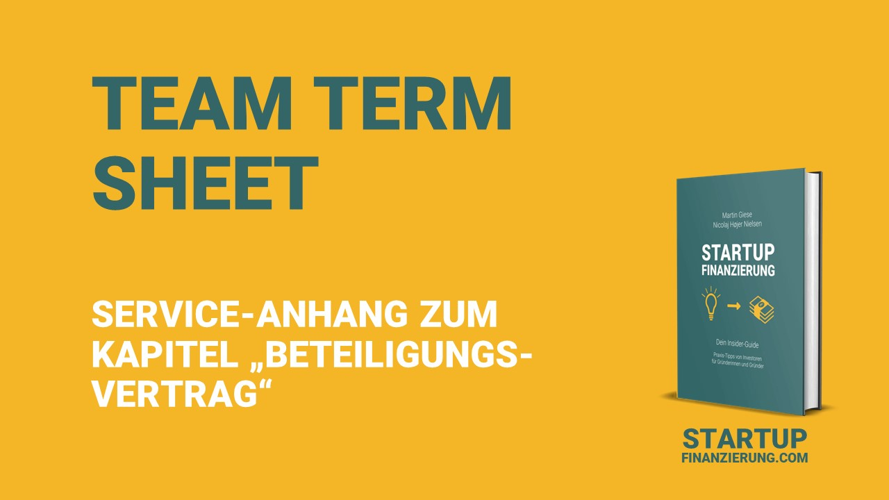 Team Term Sheet von Startup-Anwalt Alan Solansky