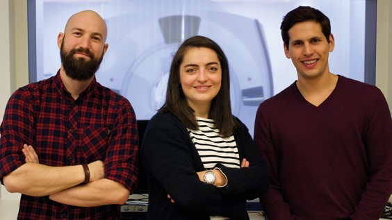 Team ORBEM: Pedro Gomez (rechts), Maria Laparidou, Miguel Molina